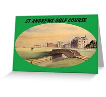 St Andrews Golf Course With Banner Greeting Card