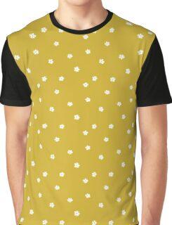 Elderflowers on ochre, sparse Graphic T-Shirt