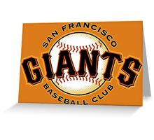 SAN FRANCISCO GIANTS BASEBALL Greeting Card