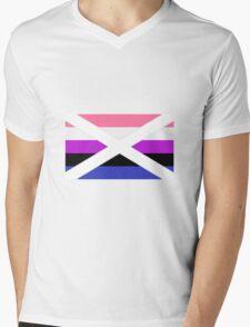 Scottish Genderfluid Pride Flag Mens V-Neck T-Shirt