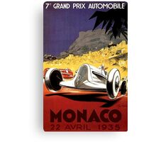 """MONACO GRAND PRIX"" Auto Race Print Canvas Print"