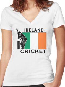 Ireland Cricket Women's Fitted V-Neck T-Shirt