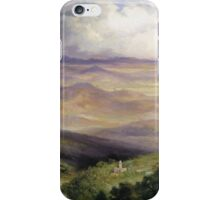 Thomas Moran - Valley Of Cuernavaca 1903. Mountains landscape: mountains, rocks, rocky nature, sky and clouds, trees, peak, forest, rustic, hill, travel, hillside iPhone Case/Skin