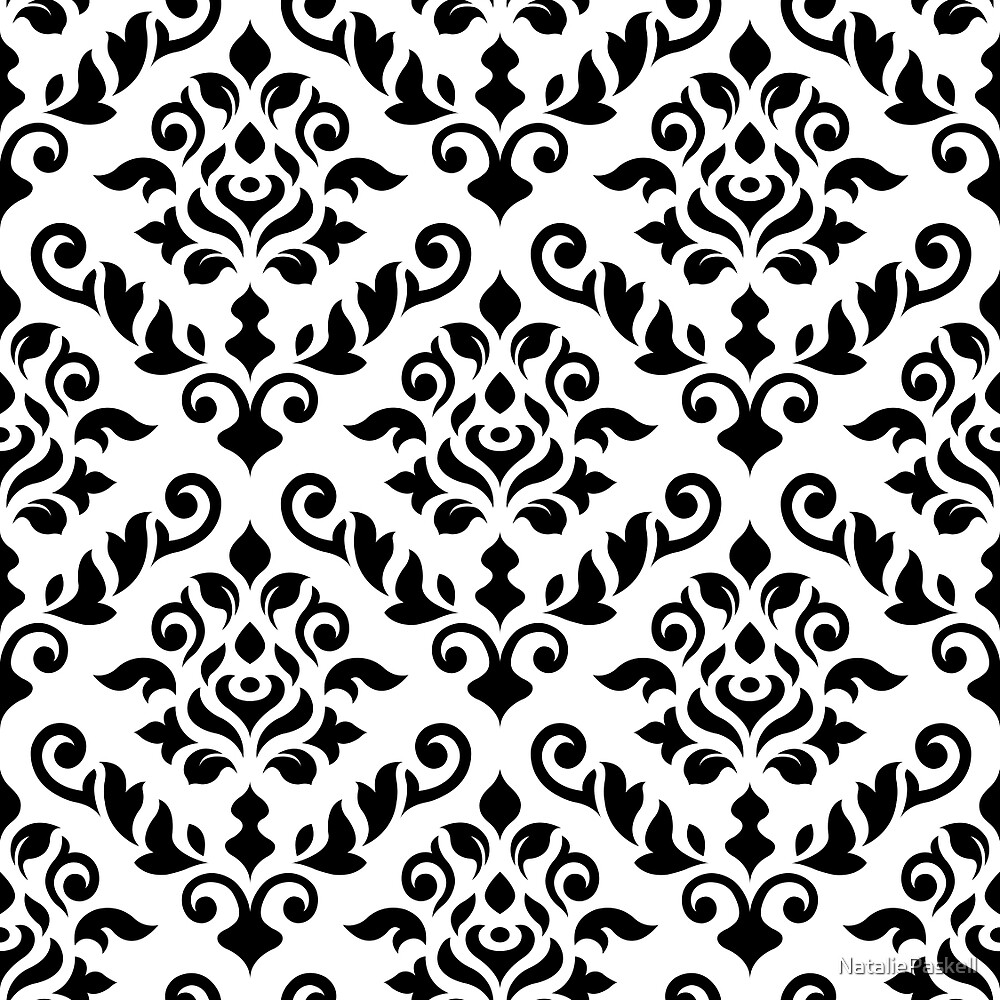 Image Result For Black And White Damask Canvas Wall Art