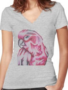 Parrot Women's Fitted V-Neck T-Shirt