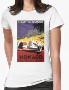 """MONACO GRAND PRIX"" Auto Race Print Womens Fitted T-Shirt"
