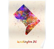 Washington DC US state in watercolor Poster