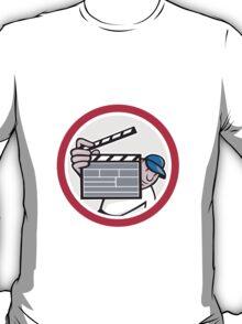 Movie Director Holding Clipboard Cartoon T-Shirt