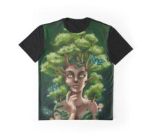 """Maple"" : Tree Nymph and Moths Graphic T-Shirt"