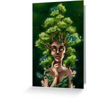 """""""Maple"""" : Tree Nymph and Moths Greeting Card"""
