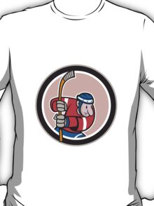 Field Hockey Player With Stick Cartoon T-Shirt