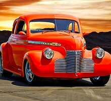 1941 Chevrolet Master Deluxe Coupe 'Reno Sunrise' by DaveKoontz