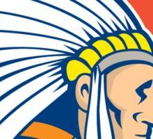 Native American Indian Chief Cartoon Sticker