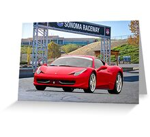 Iconic Sports Car at Sonoma Greeting Card