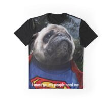 Super Pug Graphic T-Shirt