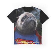 Super Pug Graphic T-Shirt