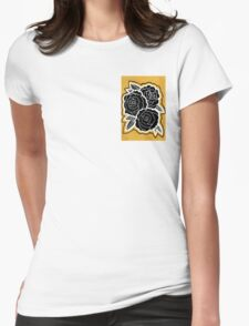 carnations on gold  Womens Fitted T-Shirt