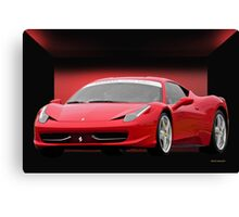 Infamous Italian Sports Car Canvas Print