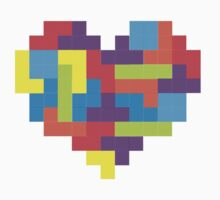 Tetris 8-Bit Heart  Baby Tee