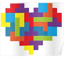 Tetris 8-Bit Heart  Poster