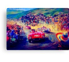 """VINTAGE GRAND PRIX AUTO"" Racing Print Canvas Print"