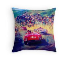 """VINTAGE GRAND PRIX AUTO"" Racing Print Throw Pillow"