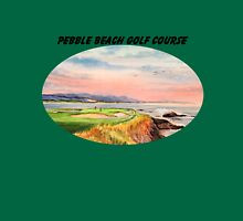 Pebble Beach Golf Course With Banner Unisex T-Shirt