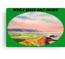 Pebble Beach Golf Course With Banner Canvas Print