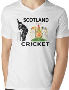 Scotland Cricket Mens V-Neck T-Shirt