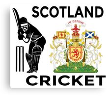Scotland Cricket Canvas Print