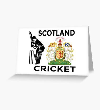 Scotland Cricket Greeting Card