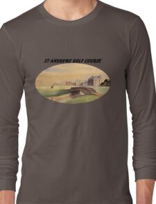 St Andrews Golf Course With Banner Long Sleeve T-Shirt