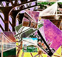 Bridges Collage - Time to Cross Over... by Jane Neill-Hancock