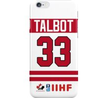Cam Talbot Team Canada iPhone Case/Skin