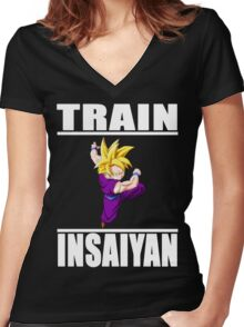 Insaiyan - Gohan Women's Fitted V-Neck T-Shirt