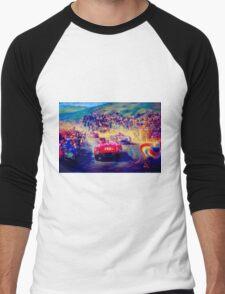 """VINTAGE GRAND PRIX AUTO"" Racing Print Men's Baseball ¾ T-Shirt"
