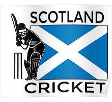 Scotland Cricket Poster