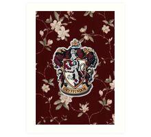 Floral Crest Art Print
