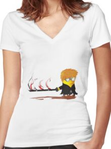 Minion Ichigo Women's Fitted V-Neck T-Shirt