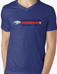 1 GB free space Mens V-Neck T-Shirt