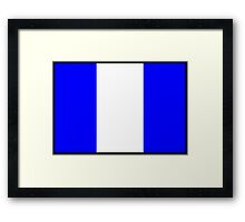 Number 9 Flag Framed Print