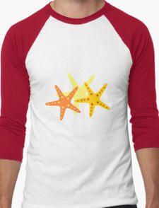 Starfish at the beach  Men's Baseball ¾ T-Shirt
