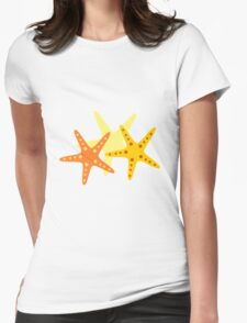 Starfish at the beach  Womens Fitted T-Shirt