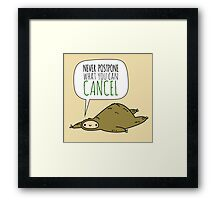 Sloth Wisdom.  Framed Print