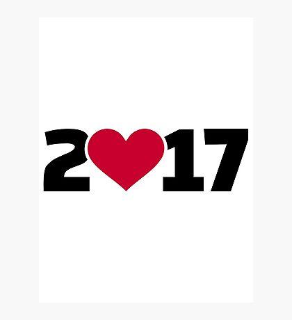 2017 heart Photographic Print