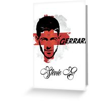 Steven Gerrard England World Cup 2014 Greeting Card