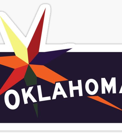 Oklahoma Welcome Road Sign Vintage 80s, USA Sticker