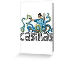 Casillas The Shot-Stopper Greeting Card