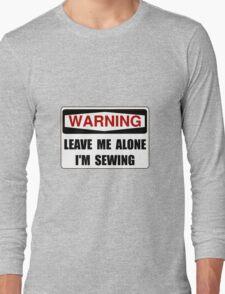 Warning Sewing Long Sleeve T-Shirt