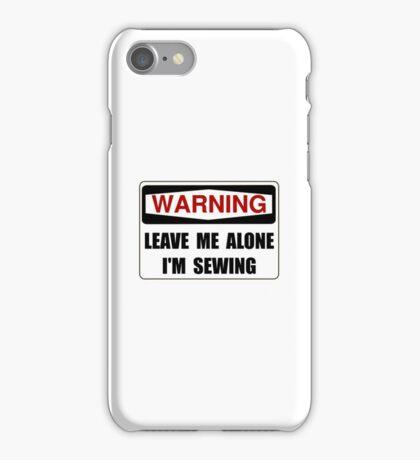 Warning Sewing iPhone Case/Skin